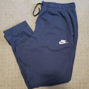 Nike Men's blue/navy sweatpant joggers size L